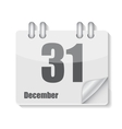 Flat Calendar Icon for Applications vector image vector image