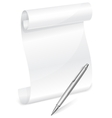 scroll and pen vector image vector image