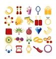Luxury fashion icons vector image