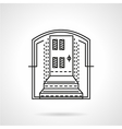 Line icon for mortgage vector image