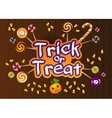 Happy Halloween Trick or Treat Greeting Card With vector image