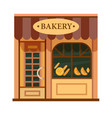 bakery front view flat icon vector image