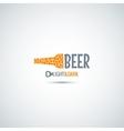beer bottle opener background vector image