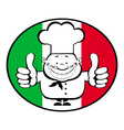 cartoon smiling chef vector image