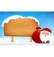 Christmas santa claus sleeping in front of big vector image
