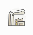 factory colorful icon vector image