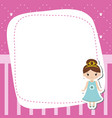 Greeting card with beautiful princesses greeting vector image