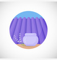 lavender face cream jar flat icon vector image
