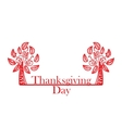 abstract red trees on the Thanksgiving Day vector image vector image