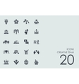 Set of creative team icons vector image