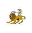Chimera Attacking Side Cartoon vector image