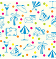 vacation travel pattern vector image vector image