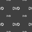 dvd icon sign Seamless pattern on a gray vector image