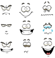 comics face vector image