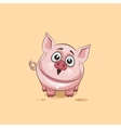isolated Emoji character cartoon Pig surprised vector image