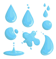 water drop motion vector image