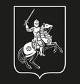 a knight on horseback vector image