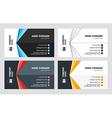 Buisness Card Template Set vector image