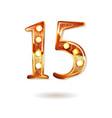 celebrating of 15 years anniversary vector image