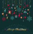 christmas season gold decoration ornament card vector image