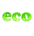 Eco word in watercolor style vector image