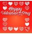 Happy valentines day lettering options vector image