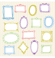 Set of hand drawn frames Hand drawn design vector image