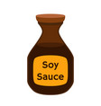 soy sauce condiment cartoon flat style vector image
