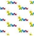 Caterpillar Baby toy Pattern vector image