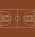 brown basketball court vector image