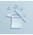 Hat of the conjurer paper icon vector image