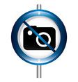 prohibition camera vector image
