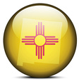 Map on flag button of USA New mexico State vector image