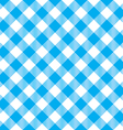 blue tablecloth diagonal seamless pattern vector image