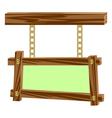 wooden frameworks vector image vector image