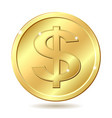 golden coin vector image
