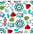Science and genetics seamless pattern vector image