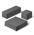black realistic box Mockup Template vector image