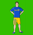 brazil man vector image