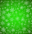 Green Christmas background with different vector image