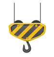 hook for building crane 01 vector image