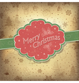 merry christmas vintage background vector image