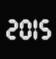 new 2015 year background vector image