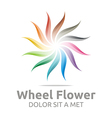 wheel flower interest colorful icon vector image