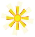 windmill sun vector image