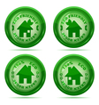 glossy house stamp vector image