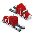 Isometric American Show truck tractor vector image