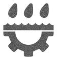 Water Gear Drops Grainy Texture Icon vector image