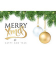 Christmas-tree branch with vector image vector image
