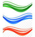 abstract soft smooth wavy lines set vector image